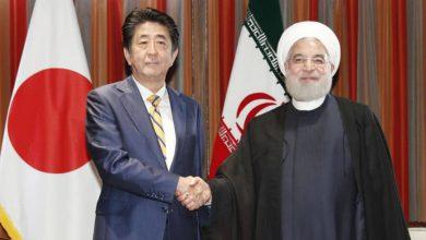 تصویر از یک ساعت مذاکره روحانی و شینزو آبه، آن هم پشت درهای بسته