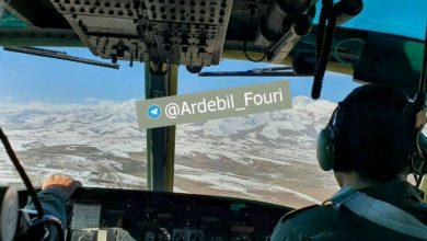 تصویر از سقوط هواپیمای نظامی در دامنه کوه سبلان