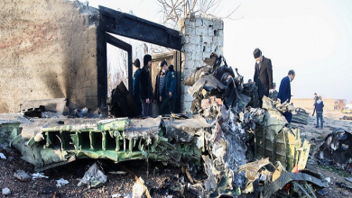 تصویر از سقوط هواپیمای بوئینگ اوکراینی در نزدیکی فرودگاه امام (ره)