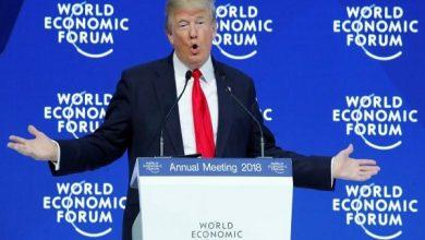 تصویر از خودستایی رئیسجمهور آمریکا در پنجاهمین نشست مجمع جهانی اقتصاد (داووس)