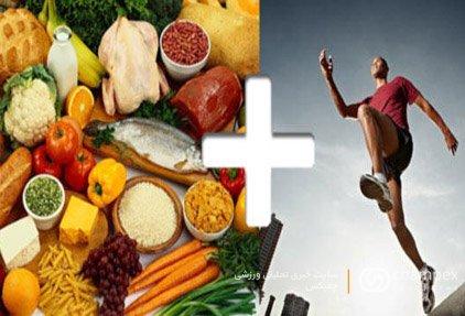 تغذیه مناسب در ورزش