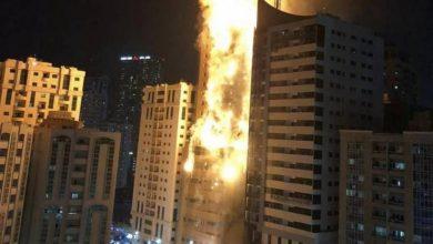تصویر از آتش سوزی شارجه امارات چندین زخمی به همراه داشت