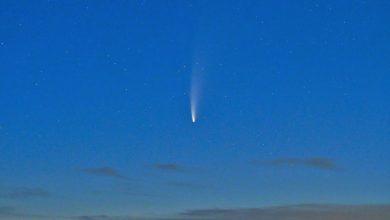 تصویر از ستاره دنباله دار نئووایز برای زمینیان قابلمشاهده شد + عکس
