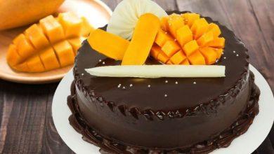 تصویر از طرز تهیهی کیک انبه با شکلات