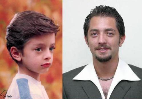 عکس کودکی بهرام رادان