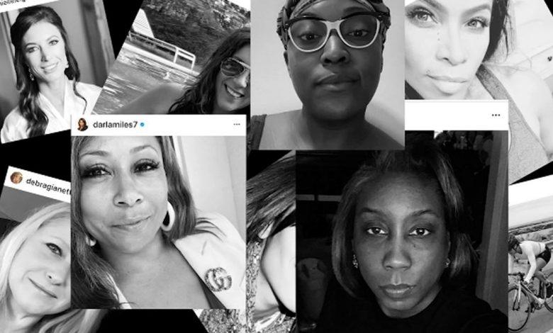 چالش عکس سیاه و سفید زنان در اینستاگرام