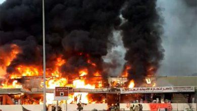 تصویر از آتش سوزی عجمان به روایت فیلم و عکس