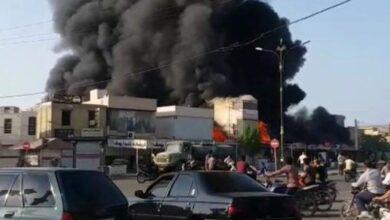 تصویر از آتش سوزی بندر دیلم ۲۰۰ غرفهی بازارچه را نابود کرد!