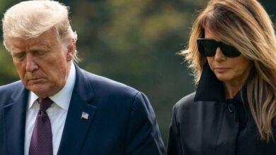 تصویر از دونالد ترامپ و همسرش به کرونا مبتلا شدند