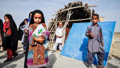 تصویر از وضعیت حزنآور تنها مدرسهی روستای گواتامک خاش + فیلم