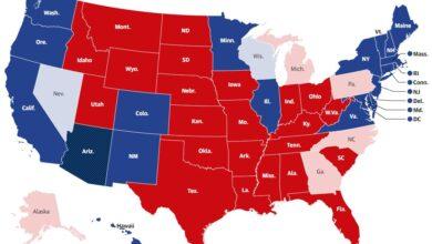 تصویر از آخرین وضعیت آرای انتخابات ریاست جمهوری آمریکا