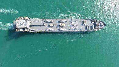 تصویر از الحاق ناو اقیانوس پیمای شهید رودکی به نیرودریایی سپاه + فیلم