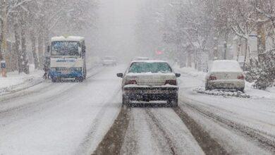 تصویر از نخستین بارش برف در تهران در سال ۱۳۹۹ + فیلم