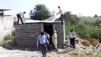 تصویر از خودسوزی زن بندرعباسی حین تخریب خانهاش + فیلم