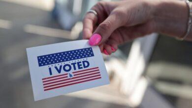 تصویر از صفهای طولانیِ رأیگیری در نیویورک آمریکا