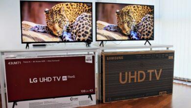 تصویر از مقایسهی تلویزیونهای سونی، سامسونگ و الجی