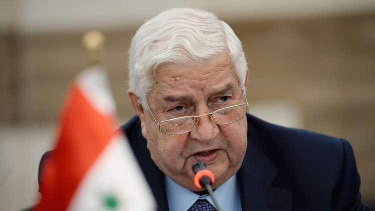 ولیدالمعلم وزیر خارجه سوریه