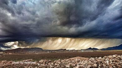 تصویر از ابرهای عجیب در آسمان ایذه + فیلم و عکس