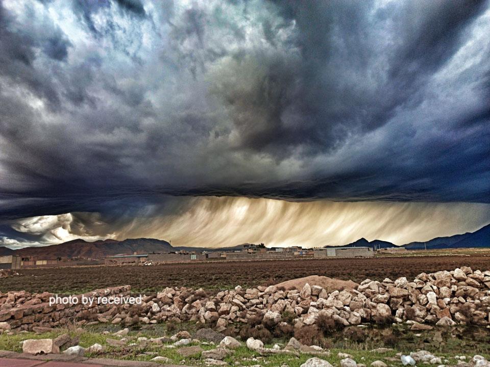 ابرهای عجیب در آسمان ایذه