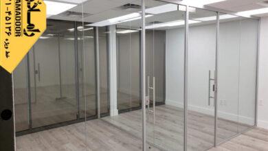 تصویر از ساخت انواع پارتیشن شیشهای برای دکوراسیون داخلی