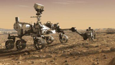 تصویر از فرود آمدن کاوشگر ناسا روی کرهی مریخ + فیلم