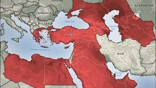 نقشهی فرضی امپراتوری اردوغان