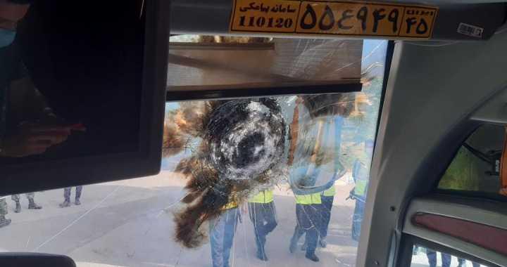 حمله با نارنجک به اتوبوس پرسپولیس