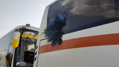 تصویر از حمله با نارنجک به اتوبوس پرسپولیس + فیلم و عکس