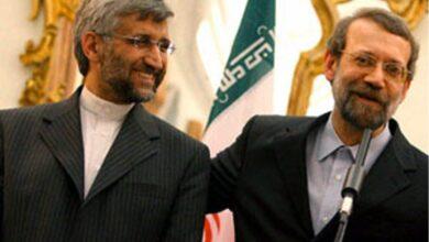 تصویر از پاسخ تند علی لاریجانی به سعید جلیلی در توییتر + عکس