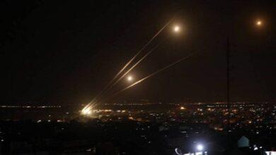 تصویر از فیلم لحظهی برخورد موشک حماس به تل آویو