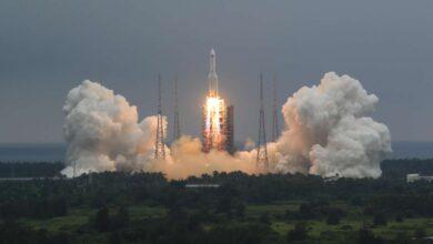تصویر از خطر جدید چین برای دنیا: احتمال سقوط بخشی از موشک چینی به زمین
