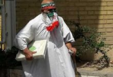 تصویر از کاندید شدن پیرمرد کفن پوش و جنجالهای آن + فیلم