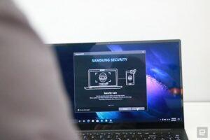 صفحه و نرمافزار حریم خصوصی گلکسی بوک پرو